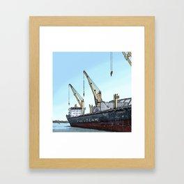 Redpath Sugar Dock Framed Art Print