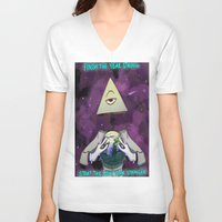illuminati V-neck T-shirts featuring Illuminati  by Static-Thing