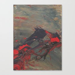 Battling Nerves Canvas Print