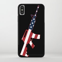 AR-15 Stars & Stripes Rifle iPhone Case