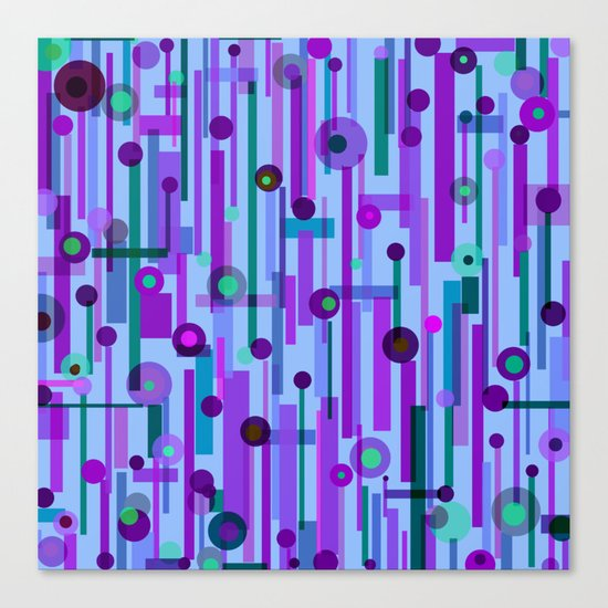 Plink Purple (see also Plink, and Plink Cherry) Canvas Print
