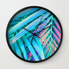 Rainbow Palms Wall Clock