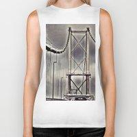 bridge Biker Tanks featuring Bridge by itsthezoe