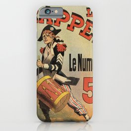 Vintage French revolutionary newspaper ad iPhone Case