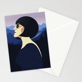 Girl Retro Style 05 Stationery Cards