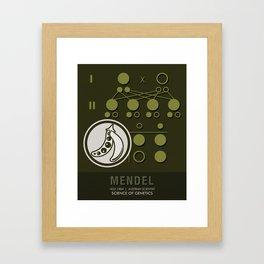 Science Posters - Gregor Mendel - Geneticist, Scientist Framed Art Print