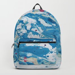 Marble art : Blue wind Backpack