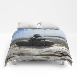 Finding Balance at the Beach Comforters