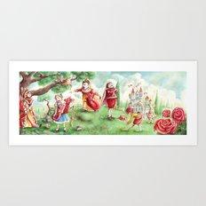 Alice's Adventures in Wonderland - The Croquet Scene | Off with her head! Art Print