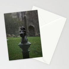 Hitching Post in the Rain Stationery Cards