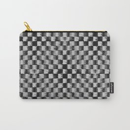 Edgy Checker (in shades of grey) Carry-All Pouch