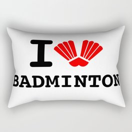 I Love Badminton Rectangular Pillow