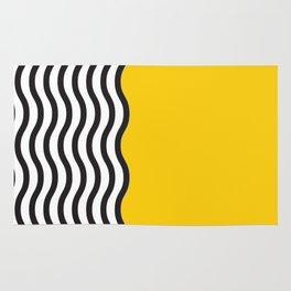 Waves of Yellow Rug