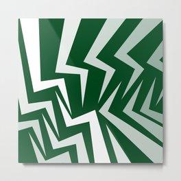 Fangs Series - Green Metal Print