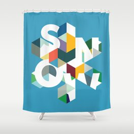 Snow (type) Shower Curtain