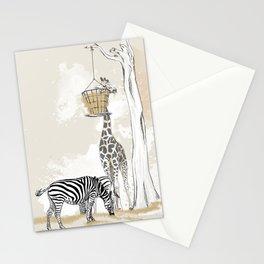 Zoo : Tigre, Zèbre, Girafe Stationery Cards