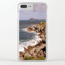 Rocky Island Coastline Clear iPhone Case