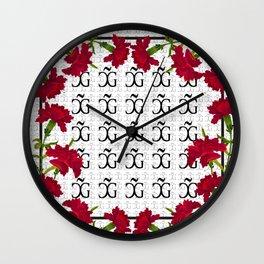 Carnations Wall Clock