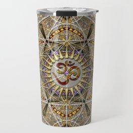 Bohemian Yoga Om Geometry Travel Mug
