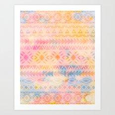 Pastel Aztec Art Print