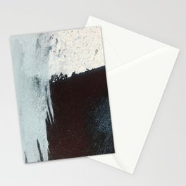 Like A Gentle Hurricane [3]: a minimal, abstract piece in blues and white by Alyssa Hamilton Art Stationery Cards