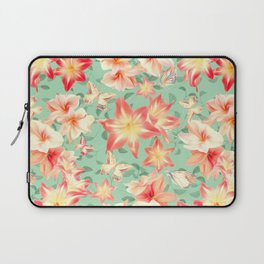Spring Amaryllis and Butterflies Laptop Sleeve