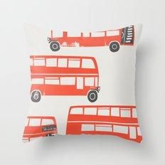London Double Decker Buses Throw Pillow