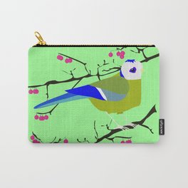 Blue tit with black eye Carry-All Pouch