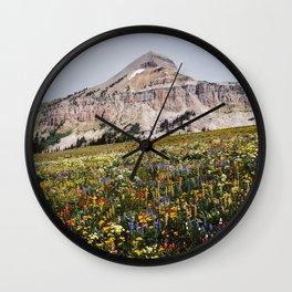 Fossil Mountain Wildflowers Wall Clock