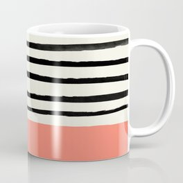 Coral x Stripes Coffee Mug