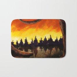 Forest on Fire Bath Mat