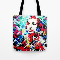 Rose Lady, Floral Patch Tote Bag