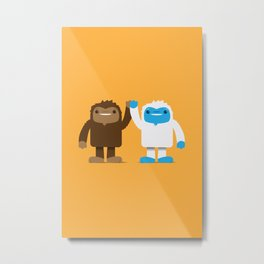 Bigfoot and Yeti Bros - High Five Metal Print