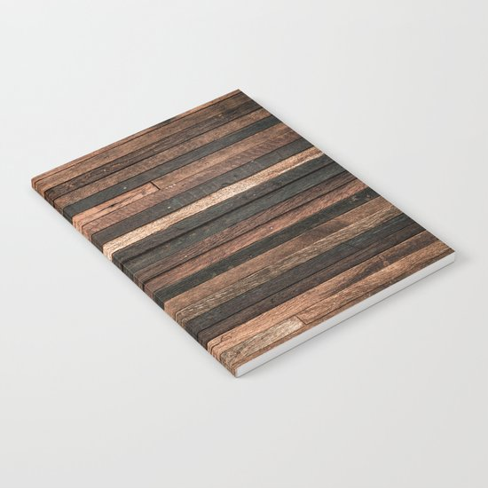 Vintage Wood Plank Notebook