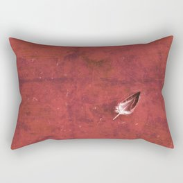 Afloat in a Sea of Red Rectangular Pillow