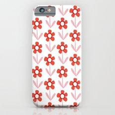Summer retro flowers iPhone 6s Slim Case