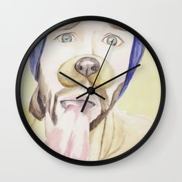 Jared Padalecki, watercolor painting Wall Clock