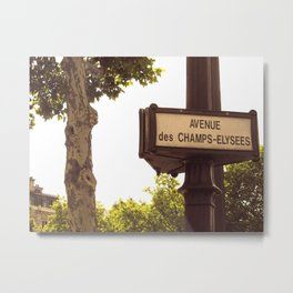 Avenue des  Champs-Elysees Metal Print