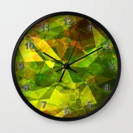 Cactus Garden Abstract Polygons 1 Wall Clock
