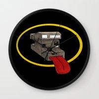 polaroid Wall Clocks featuring Polaroid by gunberk