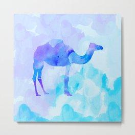 Abstract Camel Metal Print