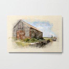The Coal Barn at Thornham Staithe Norfolk Metal Print