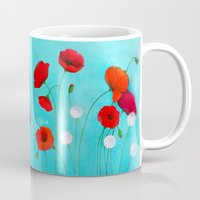 poppies Mugs featuring Poppies by Sybile Art