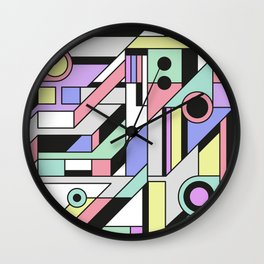 De Stijl Abstract Geometric Artwork 2 Wall Clock
