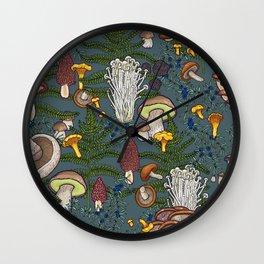 mushroom forest Wall Clock
