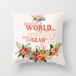 Dear Old World Anne of Green Gables Throw Pillow