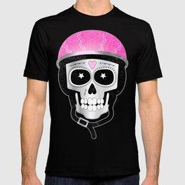 Day of the Dead Biker Skull T-shirt