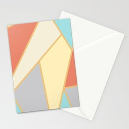 Colorful Mosaic Geometric Abstract Stationery Cards