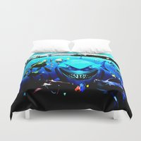 finding nemo Duvet Covers featuring nemo by Marwan Baghdadi
