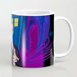 12th Doctor with blue Phone booth Coffee Mug